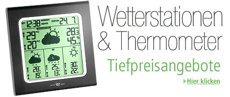 Amazon Gutschein  Wetterstationen & Thermometer